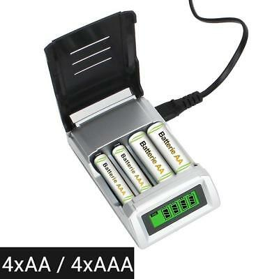 Universal Digital LCD Battery Charger for Rechargeable AA AAA Nimh Nicd Battery