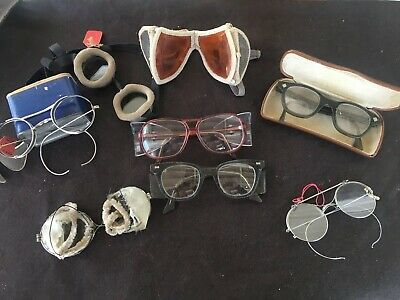 Vintage LOT Safety Eyeglass Spectacles Early 20th Century 1913-? 8 Pair