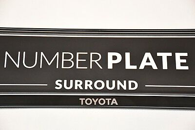 1 x TOP BLACK STAINLESS STEEL NUMBER PLATE SURROUND HOLDER - FOR TOYOTA