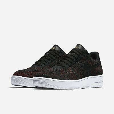 best sneakers 957d0 c4be4 NIKE AF1 AIR Force 1 Ultra Flyknit Low Shoes Sizes 7.5 10 Black Gold  817419-005