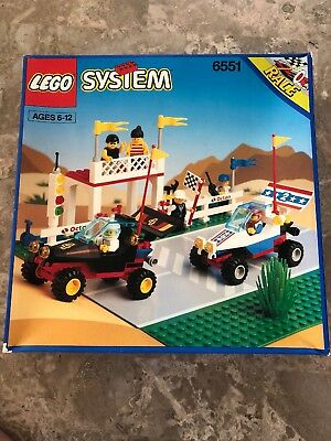 Lego System #6551 Checkered Flag 500 Vintage 1992 Town Racing Set RARE