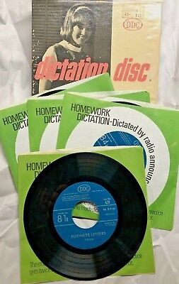 Dictation Disc DDC Shorthand Speed Development Training 45RPM RECORDS Series 420