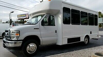 2011 Ford E-350 Shuttle Bus 14 Passenger With Handicap Lift No CDL Required