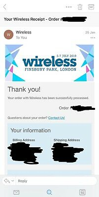 Wireless Festival 2019 Sunday 7th July Ticket (SOLD OUT)