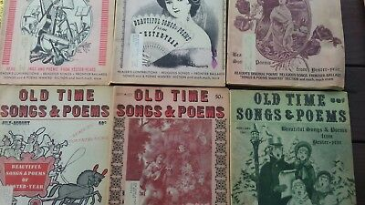 OLD TIME SONGS & Poems magazines 1969 lot of 6 - $32 50 | PicClick