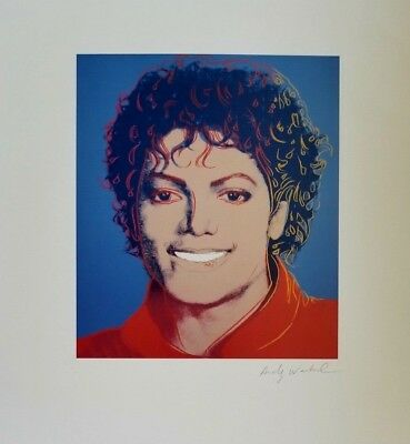 Andy Warhol Hand Signed  Portrait Of Michael Jackson From Exclusive Catalog