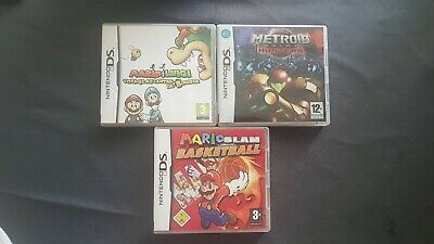 Lot De 3 Jeux De Ds Metroid Mario