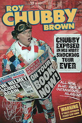 ROY CHUBBY BROWN Signed In Person 12x8 Photo Blue Comedy PHOTO PROOF COA