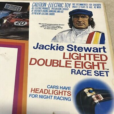 Aurora Afx Jackie Stewart Lighted Double Eight Race Set