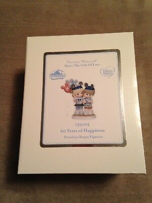 """Disney Precious Moments """"60 Years Of Happiness"""" Park Exclusive Nib"""