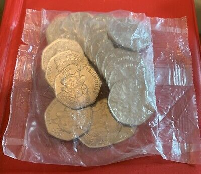 MRS TITTLEMOUSE and FLOPSY BUNNY full sealed bag of 20 x 50p coins