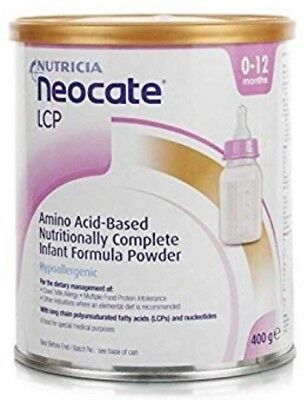 Neocate Lcp  Baby Formula - 0-12 Months - 12 X 400G Tin