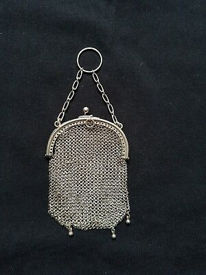 Vintage Sterling Silver Chain Coin Purse