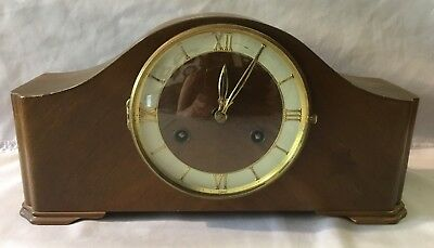 Wooden Time and Chime Mantel Clock 414 Germany