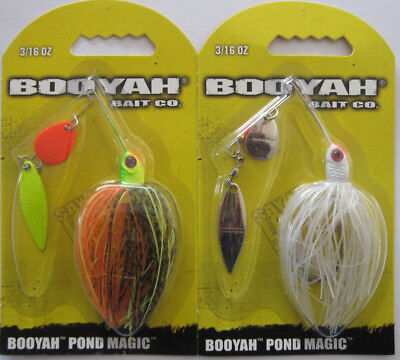 Lot 3 BYPM36 Booyah Spinnerbait Pond Magic 3//16 oz Fire Bug Fishing Lure