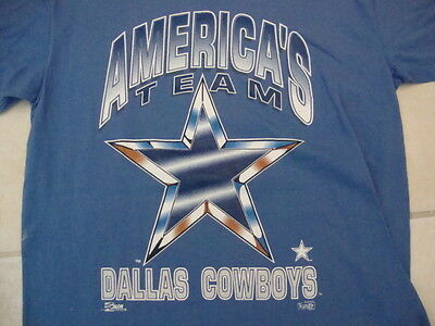 Vintage NFL Dallas Cowboys Football Salem Sportswear Fan Blue T Shirt Size L d05c2d203