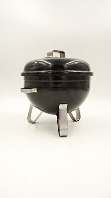 Small Weber style Kettle Grill BOWL SNACK SERVER Lid all metal  BBQ patio FUN