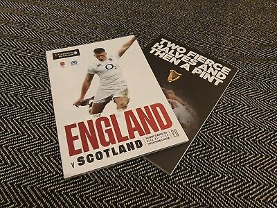 ENGLAND vs SCOTLAND GUINESS SIX NATIONS 2019 Rugby Union Programme 16/03/19!