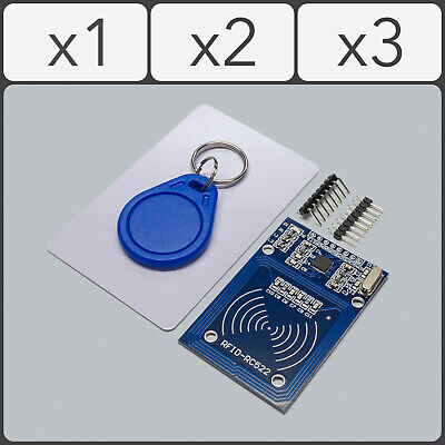 RFID Module RC522 Kit 13.56MHz S50 Card Key Fob SPI Read/Write for Arduino