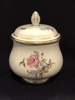 Hochst Hand-Painted Porcelain Rose Covered Jar Made In Germany New