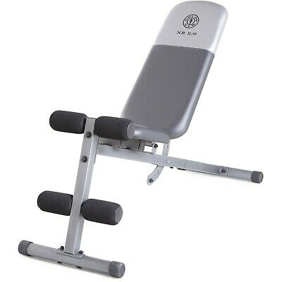Golds Gym Workout Fitness Bench Full Adjustable Utility Exercise Weight Lifting