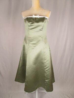 BILL LEVKOFF Women Bridesmaid Prom Evening Dress Light Green Sz-8 NewAgain