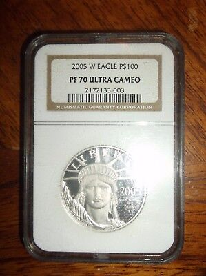 2005 w eagle proof platinum pf 70  Ultra Cameo $100 NGC