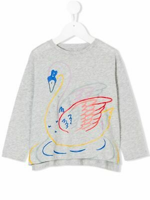 Stella McCartney KIDS Girls' Swan Print Sweater Top 4 Years old Children