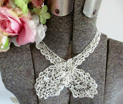 Sweet Antique Hand Made Honiton Lace Tie~Collar~Dress Trim~25""