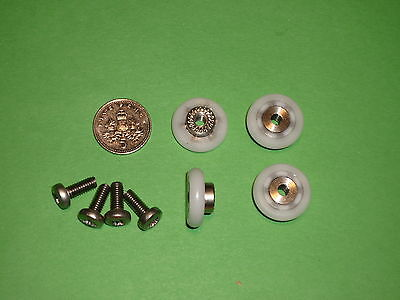 Small Shower Door Rollers, Wheels, Runners.17.5mm x 4.3mm stainless steel SR61