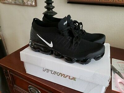 Nike Air Vapormax Flyknit 2 Black White Men's 10.5