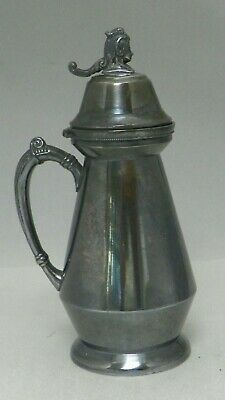 Vintage Wm Rogers Quadruple Silver Plate Syrup Pitcher #1507 Hartford Conn. 8""