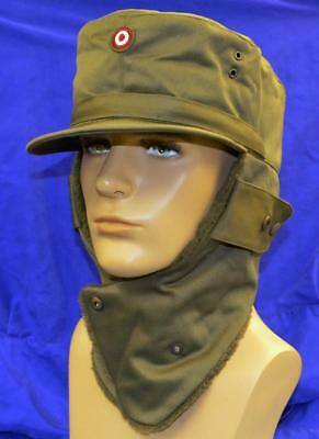 NEW Austrian Military Surplus Item -  Army Men Winter Hat - Size 60 / Olive Drab