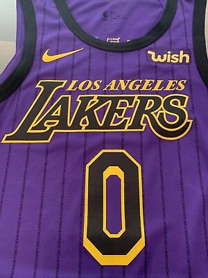 71453856b04 Los Angeles Lakers AUTHENTIC NIKE Kyle Kuzma NBA Jersey Size 48 (Adult  Large)