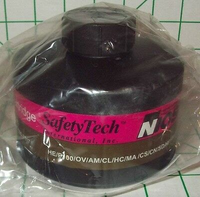 NOS SAFETYTECH M-95 NBC NATO 40mm GAS MASK CARTRIDGE NIOSH MILITARY SURPLUS SEAL