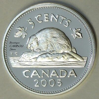 2005 Canada Silver Proof 5 Cents