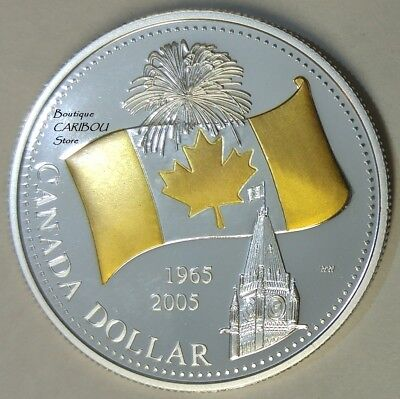 2005 Canada Silver Proof Dollars ''Canada's National Flag''