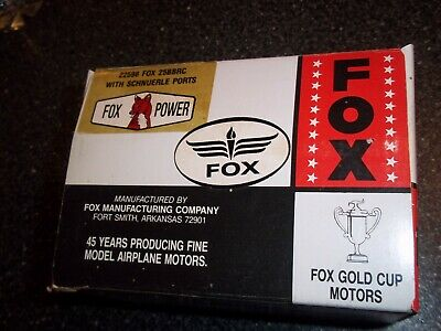Fox 25 Bb Rc New In Box Ball Bearing Remote Control Model Airplane Engine