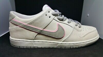 the best attitude c9742 9762f Nike Sb Zoom Dunk Low Pro 895969-160 White   Perfect Pink -Silver Mens