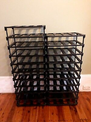 Vinrac Modular Wine Rack in Black Plastic Holds 84 Bottles