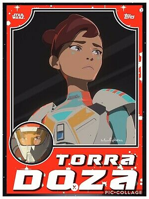 Topps Star Wars Card Trader - Throwback Resistance TORRA DOZA Red *Digital