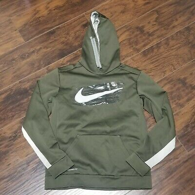 NIKE THERMA FIT Hoodie Size MEDIUM green Sweatshirt Pullover ... f6384ba72