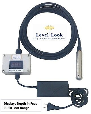 Water Tank Level Display, Digital Readout up to 10 feet deep, 110 V, Level-Look