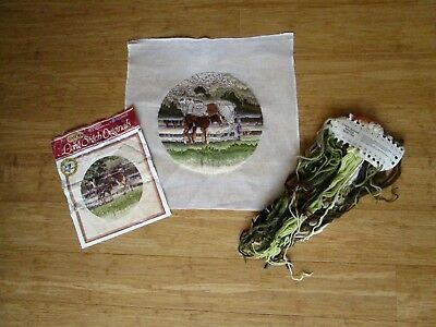 Semco Partly Stitched Long Stitch Of Mother & Foal 28Cms Round
