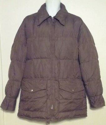 Walls Blizzard Pruf Down Mens Coat Size XL Brown Vintage Puffer Waffle USA