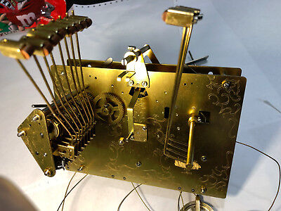 Cable Driven Clock Movement Brass A-415-015 8710 Hermle 1161-853 4 Parts Repair