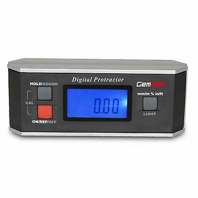 GemRed 82413 Digital Protractor Angle Finder Gauge Inclinometer with Backlight a