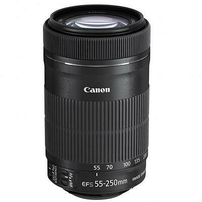 Canon EF-S 55-250mm f/4-5.6 IS STM Lens-NEW-US VERSION And POLARIZED FILTER