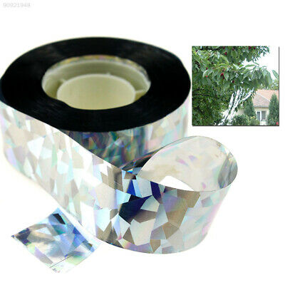 84E0 Visual Audible Reflective Bird Deterrent Ribbon Flash Bird Scare Tape 90M