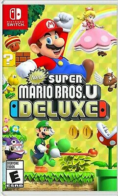 New Super Mario Bros. U Deluxe for Nintendo Switch, Sealed & Mint Condition